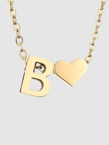 B 14 K gold Titanium Heart Minimalist Necklace