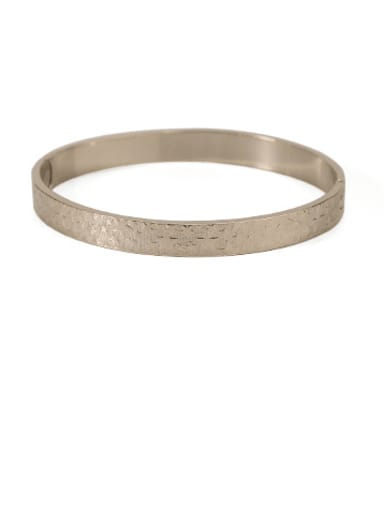 2 Brass Hollow Geometric Minimalist Cuff Bangle