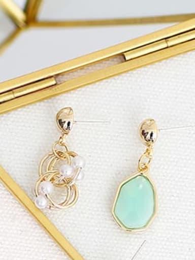 green Copper Resin Geometric Bohemia Drop Trend Korean Fashion Earring