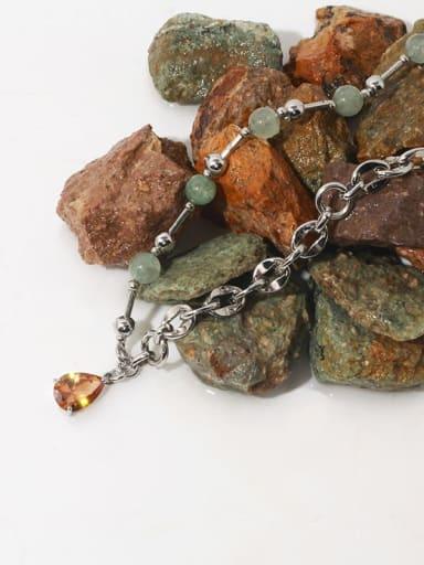 Brass Imitation Pearl Water Drop Hip Hop Necklace