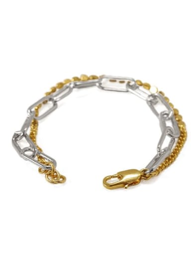 Brass Bead Geometric Vintage Strand Bracelet
