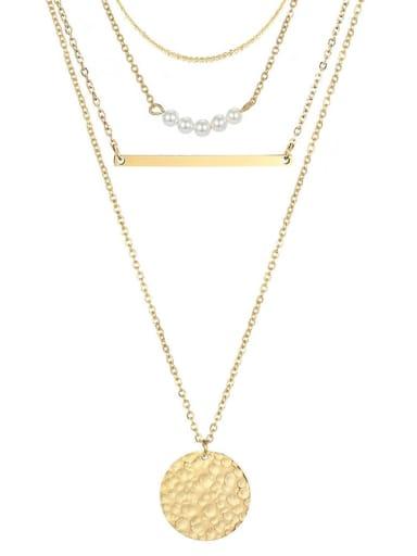 Stainless steel Geometric Minimalist Multi Strand Necklace