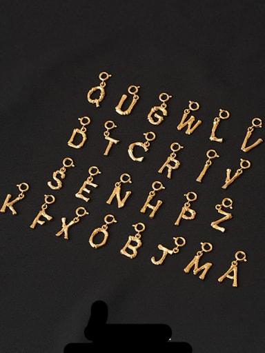 Brass Minimalist  Letter Pendant