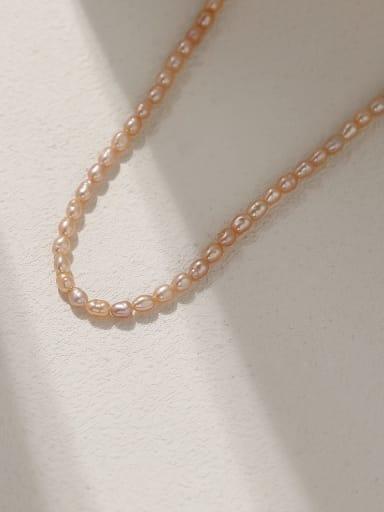 Brass Imitation Pearl Irregular Minimalist Beaded Necklace