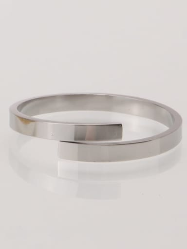Stainless steel Smooth Minimalist Band Ring