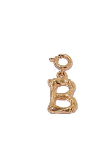 B Brass Minimalist  Letter Pendant