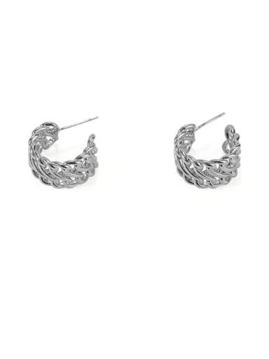 Item 5 Brass Hollow Geometric Vintage Stud Earring