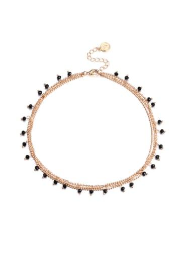 Stainless steel Irregular Hip Hop Multi Strand Necklace