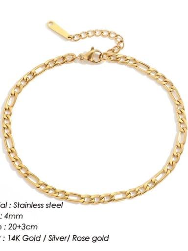 golden Stainless steel Irregular Minimalist Hollow Chain  Anklet