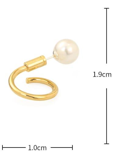 Spiral Brass Imitation Pearl Irregular Vintage Drop Earring
