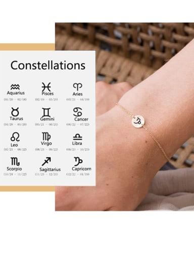 Custom Titanium Steel Constellation Pendant  Bracelet