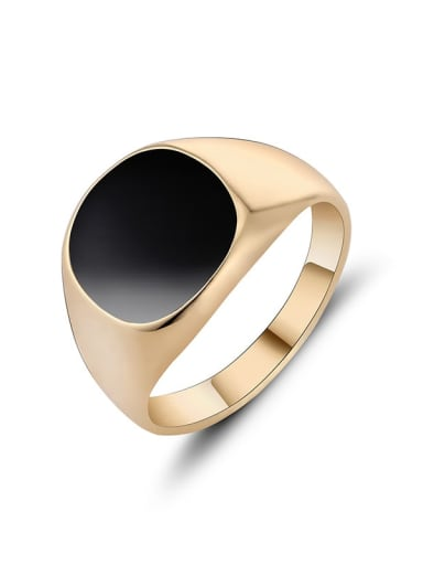 Zinc Alloy Acrylic Geometric Vintage Band Ring