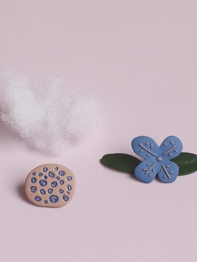 Alloy Enamel Flower Cute Single Earring