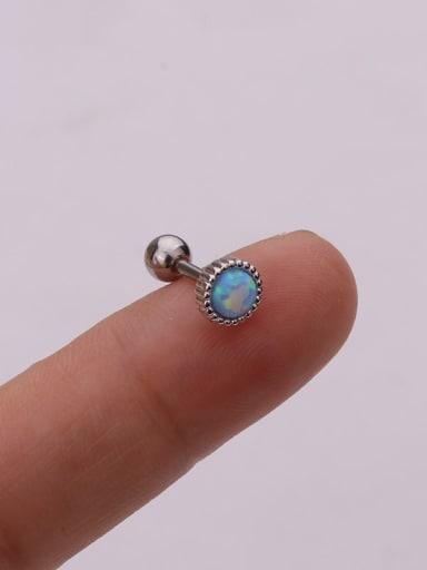 Light blue(Single) Brass Opal Geometric Cute Stud Earring