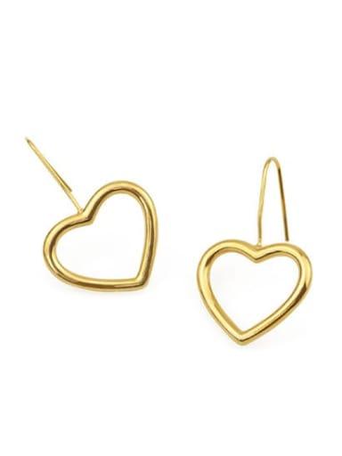 Brass Geometric Minimalist Hook Earring