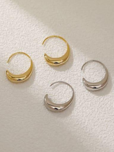 Brass Water Drop Minimalist Hook Earring