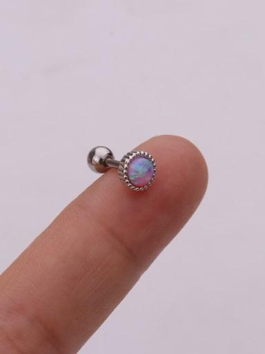 purple(Single) Brass Opal Geometric Cute Stud Earring