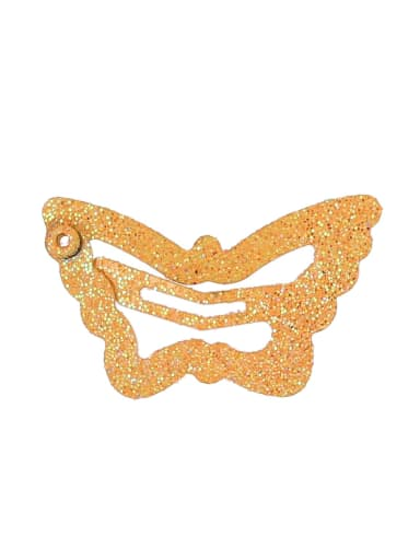 orange(1 Pack = 100 Pcs) Alloy Multi Color Cute Butterfly  Hair Barrette