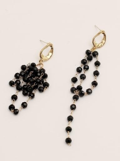 Brass Crystal Tassel Vintage Drop Earring