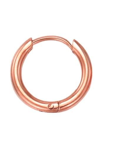 10mm rose gold Stainless steel Round Minimalist Hoop Earring