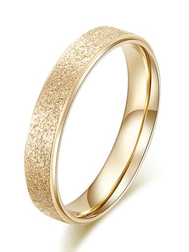Gold 3MM WIDE Titanium  Round Geometric Minimalist Band Ring