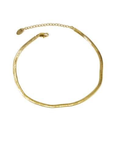 Style 1 gold Brass  Geometric Minimalist Anklet
