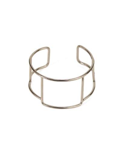 Square line Brass  Vintage Geometric chain vintage twist  Cuff Bangle