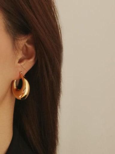 Brass Geometric Minimalist Chandelier Earring