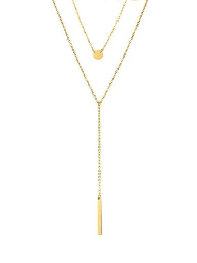 Stainless steel Tassel Minimalist Multi Strand Necklace