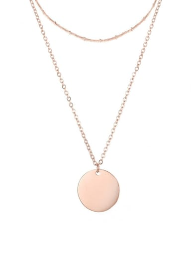 rose gold Stainless steel Geometric Minimalist Necklace