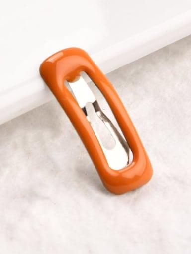 1 orange Alloy Enamel Trend Geometric  Multi Color Hair Barrette ( 1 pack = 100 pcs )