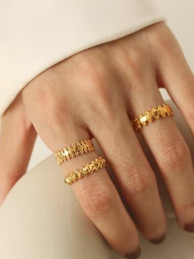 Brass Irregular Minimalist Midi Ring