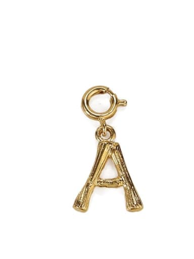 A Brass Letter Vintage Pendant