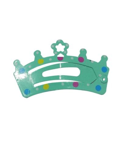 5901(1 pack = 5 pcs) Alloy Multi Color  Enamel Cute Crown Hair Barrette