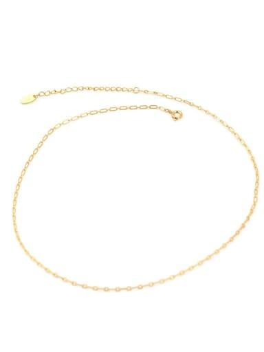 Brass Geometric Minimalist Choker Necklace