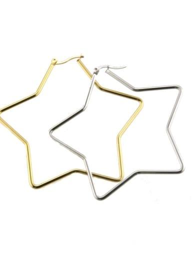 Stainless steel hollow Star Minimalist Chandelier Earring