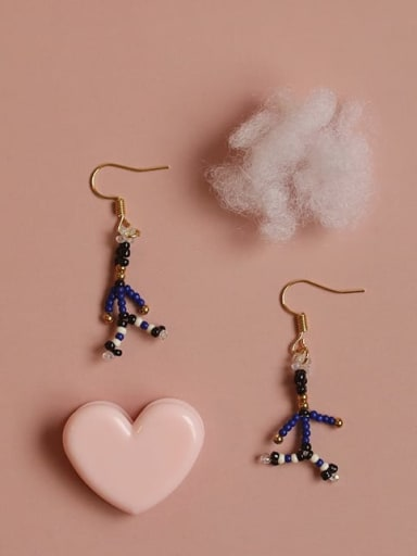 Alloy Bead Irregular Cute Hook Earring