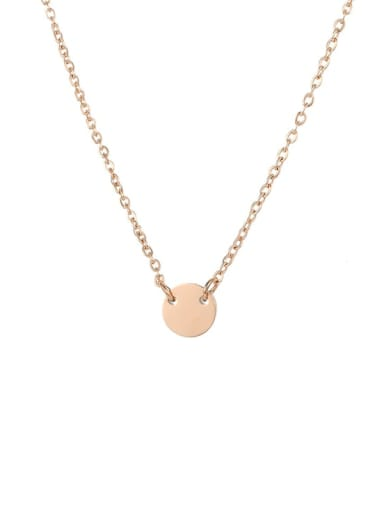 rose gold Plated Stainless steel Locket Minimalist Initials 6mm 6mm Necklace