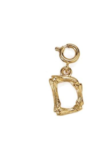 D Brass Letter Vintage Pendant
