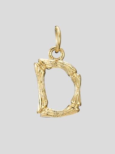 D 14 K gold Titanium 26 Letter Minimalist Initials Necklace