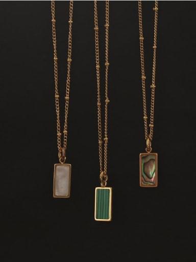 Brass Shell Geometric Vintage penfant Necklace