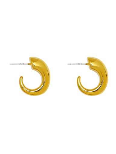 Brass Geometric Minimalist Stud Earring