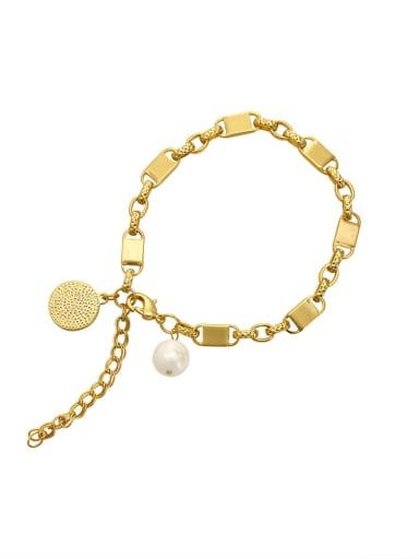 Brass Geometric Chain Vintage Link Bracelet