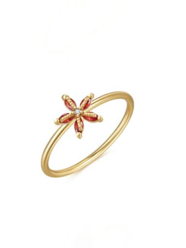 Jellyfish Brass Cubic Zirconia Multi Color Irregular Cute Band Ring