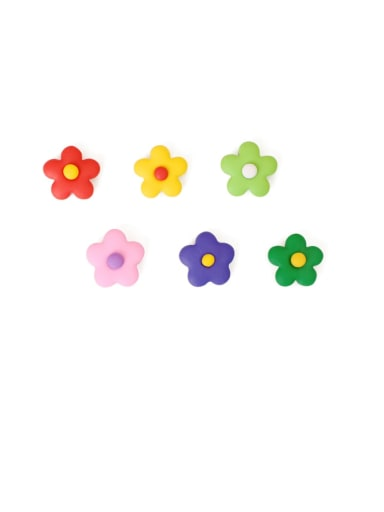 Alloy Enamel Flower Cute Stud Earring