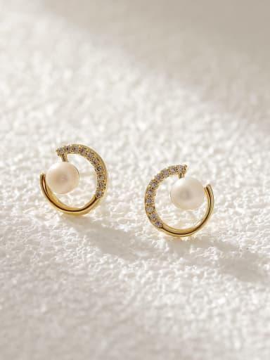 Brass Cubic Zirconia Heart Vintage Drop Earring