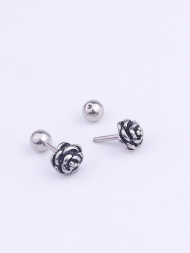 Stainless steel Feather Stud Earring