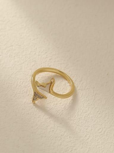 Brass Shell Geometric Minimalist Band Fashion Ring