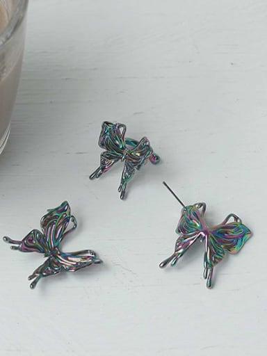 Brass Butterfly Vintage Stud Earring
