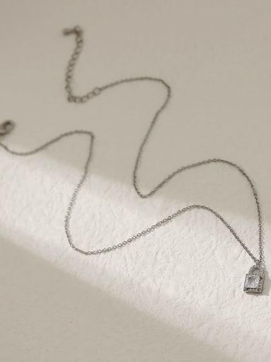 white K Brass Cubic Zirconia Locket Ethnic Necklace
